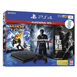 GAM SONY PS4 1TB F + Ratchet and Clank, The Last of Us, Unch