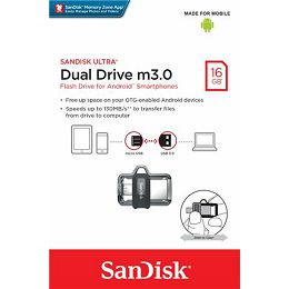 Sandisk Ultra Android Dual Drive USB Drive M3.0 16GB