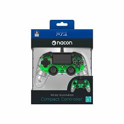 Bigben PS4 Nacon Compact Light Wired Controller prozirno-zeleni