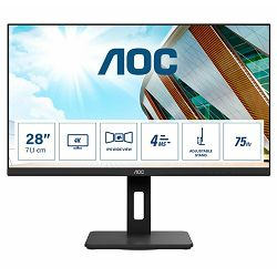 "AOC LED 28"" U28P2A, 4K, 2xHDMI, 2xDP, USB, HAS, zv"