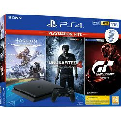 PlayStation 4 1TB F chassis + The Last of Us 2 + GT Sport + Horizon Zero Dawn CE + Uncharted 4 Hits